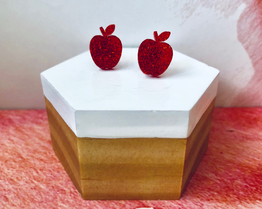 'Juicy Apples' Mini Stud Earrings