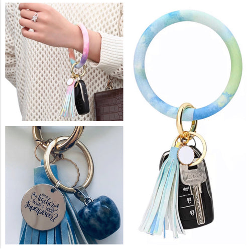 Bracelet Keychain - Ocean Blues (Teachers Gift)
