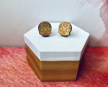 Load image into Gallery viewer, 'Flower Skulls' Mini Stud Earrings