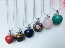 Load image into Gallery viewer, Apple Gemstone on Sterling Silver Chain
