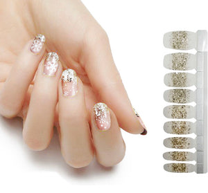 Gold Shimmering Snowflakes