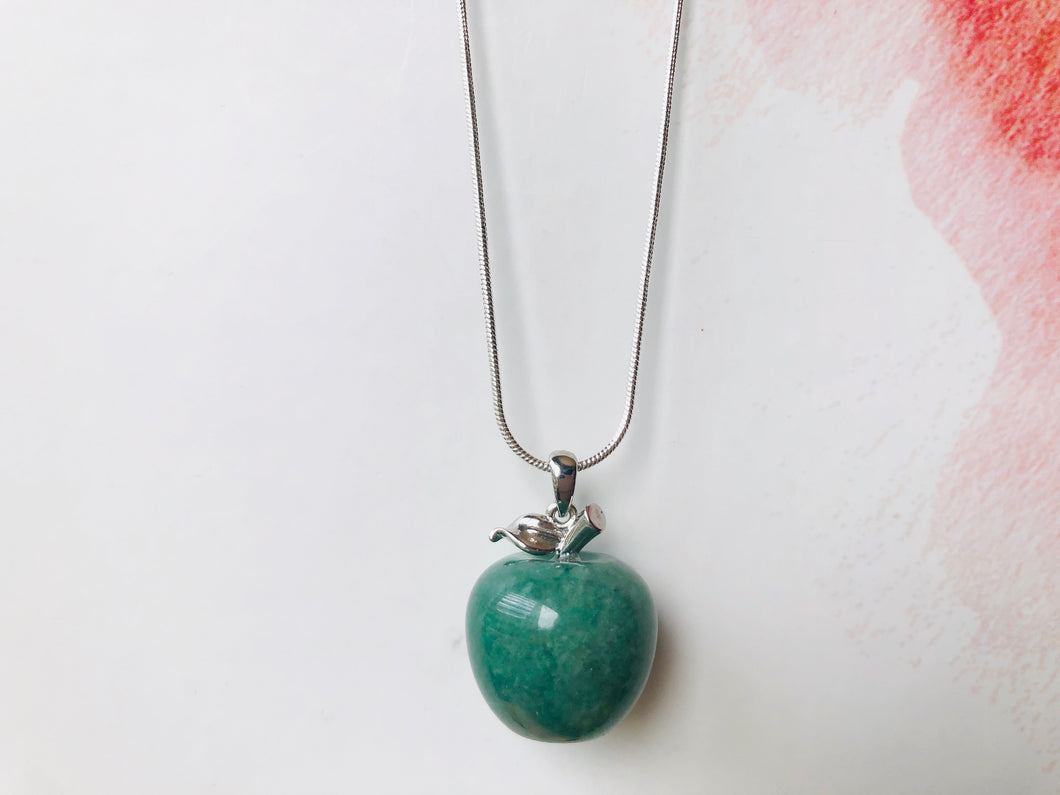 Apple Gemstone on Sterling Silver Chain
