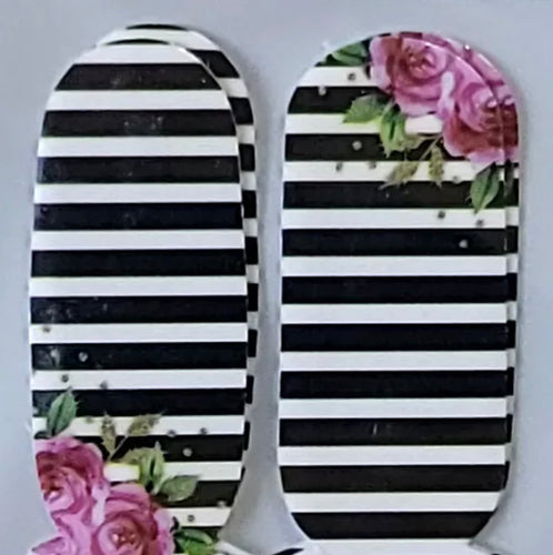 Flower Stripes Foursies Accent