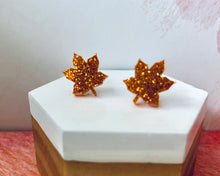 Load image into Gallery viewer, 'Autumn Leaves' Mini Stud Earrings