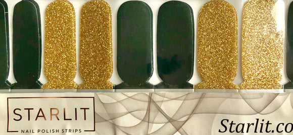 Green and Gold Sparkle