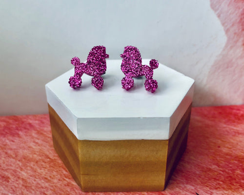 'Perfect Poodles' Mini Stud Earrings