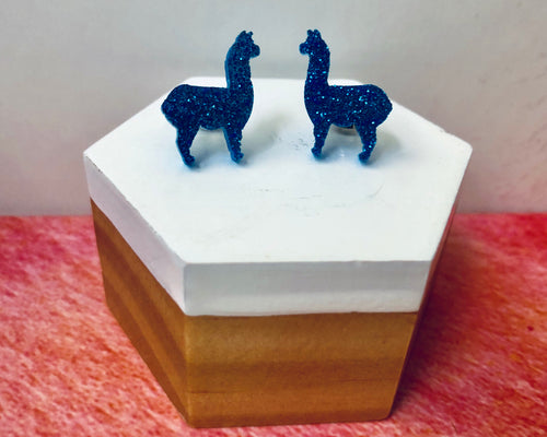 'Lucky Llamas' Mini Stud Earrings