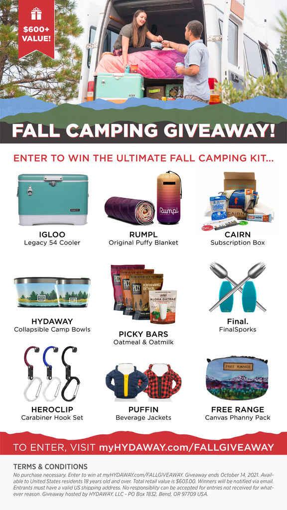 Enter the Fall Camping Giveaway