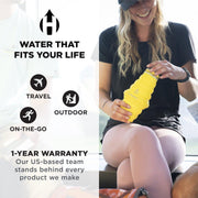 HYDAWAY-Collapsible Bottle | Cap Lid-