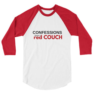 Red Couch Baseball Tee - Confessions From a Red Couch