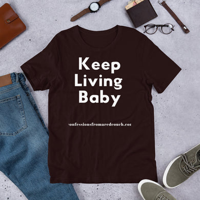 Keep Living Tee - Confessions From a Red Couch