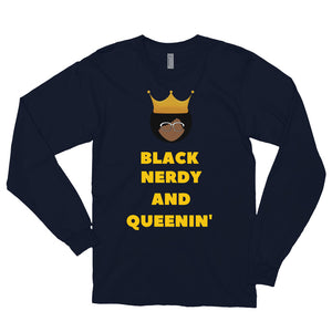 Black, Nerdy and Queenin' Long sleeve t-shirt - Confessions From a Red Couch