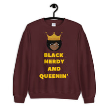 Load image into Gallery viewer, Black, Nerdy and Queenin' Sweatshirt