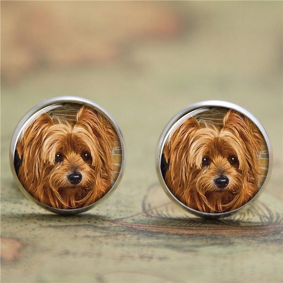 10pairs/lot Yorkie earring, Yorkshire terrier Puppy Gift for Yorkie Lover earring print glass photo dog earring