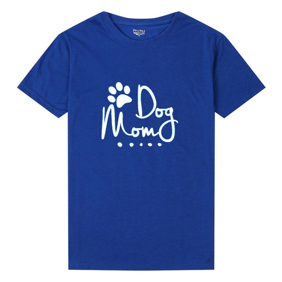 Pkorli Dog Mom T Shirt Women Harajuku Fynny Graphic T-Shirt Dog Mama Women Tshirt Caasual Shortr Lover Gift Tees