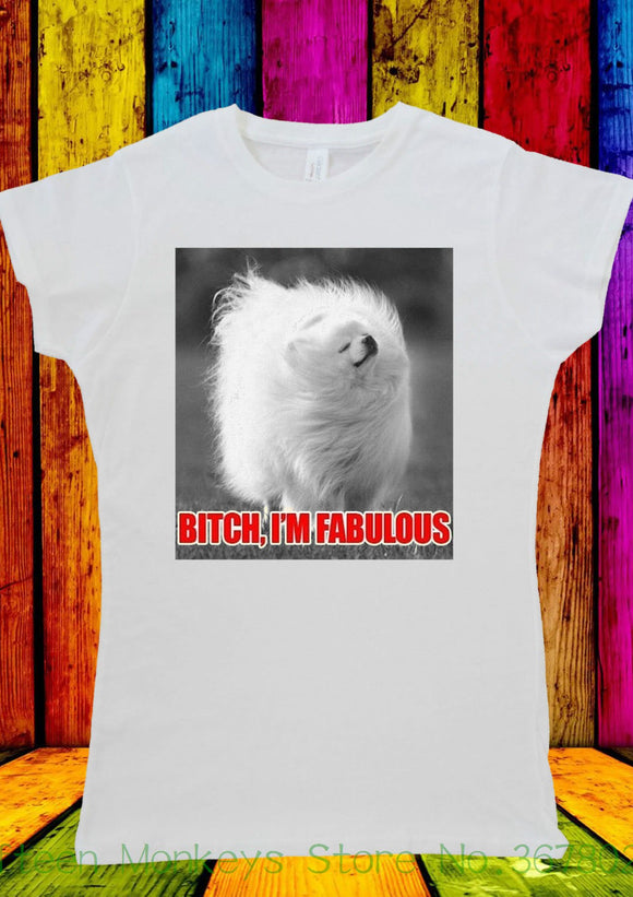 Women's Tee B * Tch Please I'm Fabulous Dog Poodle T-shirt Men Women Unisex 2237 Printing O - Neck