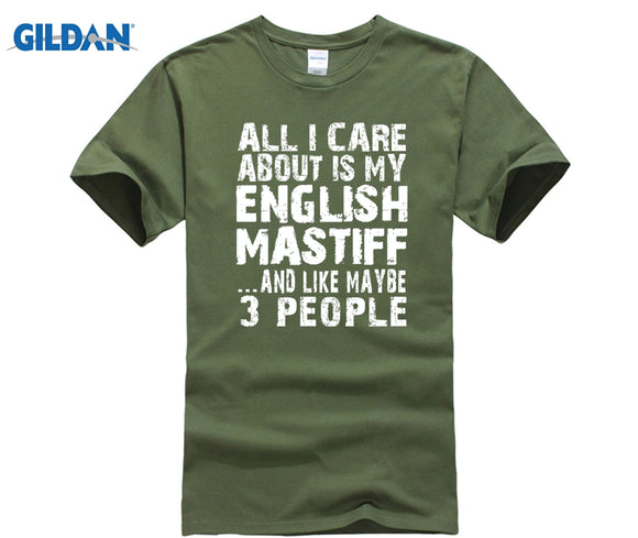 GILDAN English Mastiff T-shirt 2018 New Hot Summer GILDAN T-shirt 100% Cotton  summer dress T-shirt