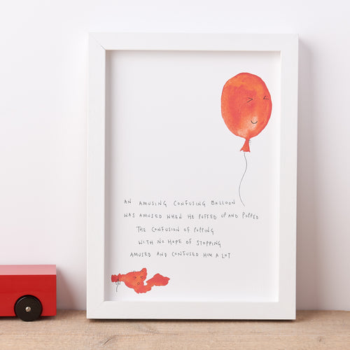 Balloon Nonsense Poem Print