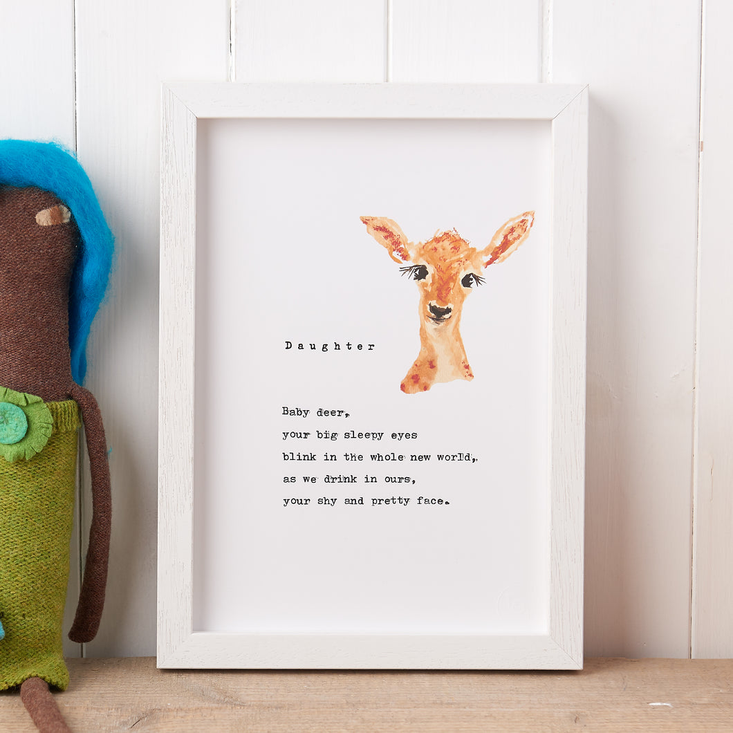 'Daughter' Poem Print