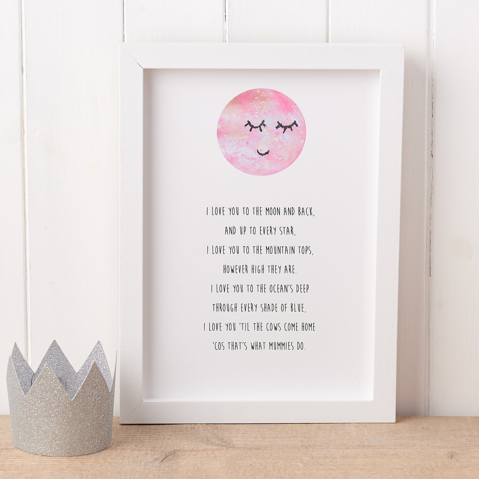 Love You To The Moon Nursery Poem Print The Original Poet A darkness of sharpness � !!! love you to the moon nursery poem print