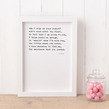 Load image into Gallery viewer, 'Sweet Somethings' Poem Print