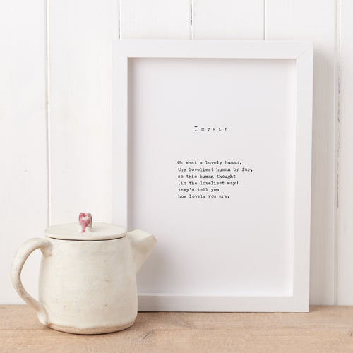'Lovely' Poem Print