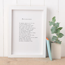 Load image into Gallery viewer, 'Priceless' Poem Print