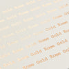 'Lovely' Foiled Poem Print