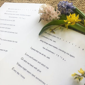 'Mum I Love You' Foiled Poem Print