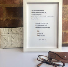 Load image into Gallery viewer, 'Thank You Dad' Foiled Poem Print