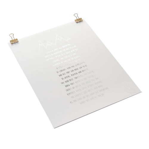 Foiled Christening Poem Print