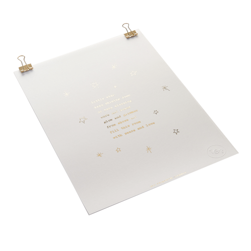 'Little Star' Foiled Nursery Poem Print