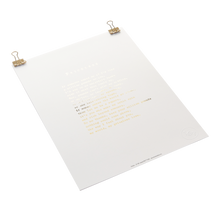 Load image into Gallery viewer, 'Priceless' Foiled Poem Print