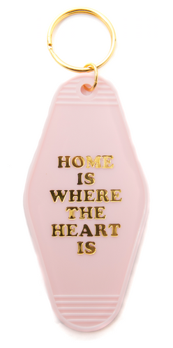 Home is Where the Heart is Motel/Hotel Keychain