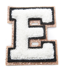 "Load image into Gallery viewer, Glam White Varsity Letter 2"" Patch"