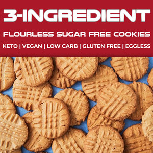 3-INGREDIENT | Flourless + Sugar Free Cookies