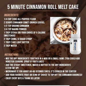 5 Minute Cinnamon Roll Melt Cake