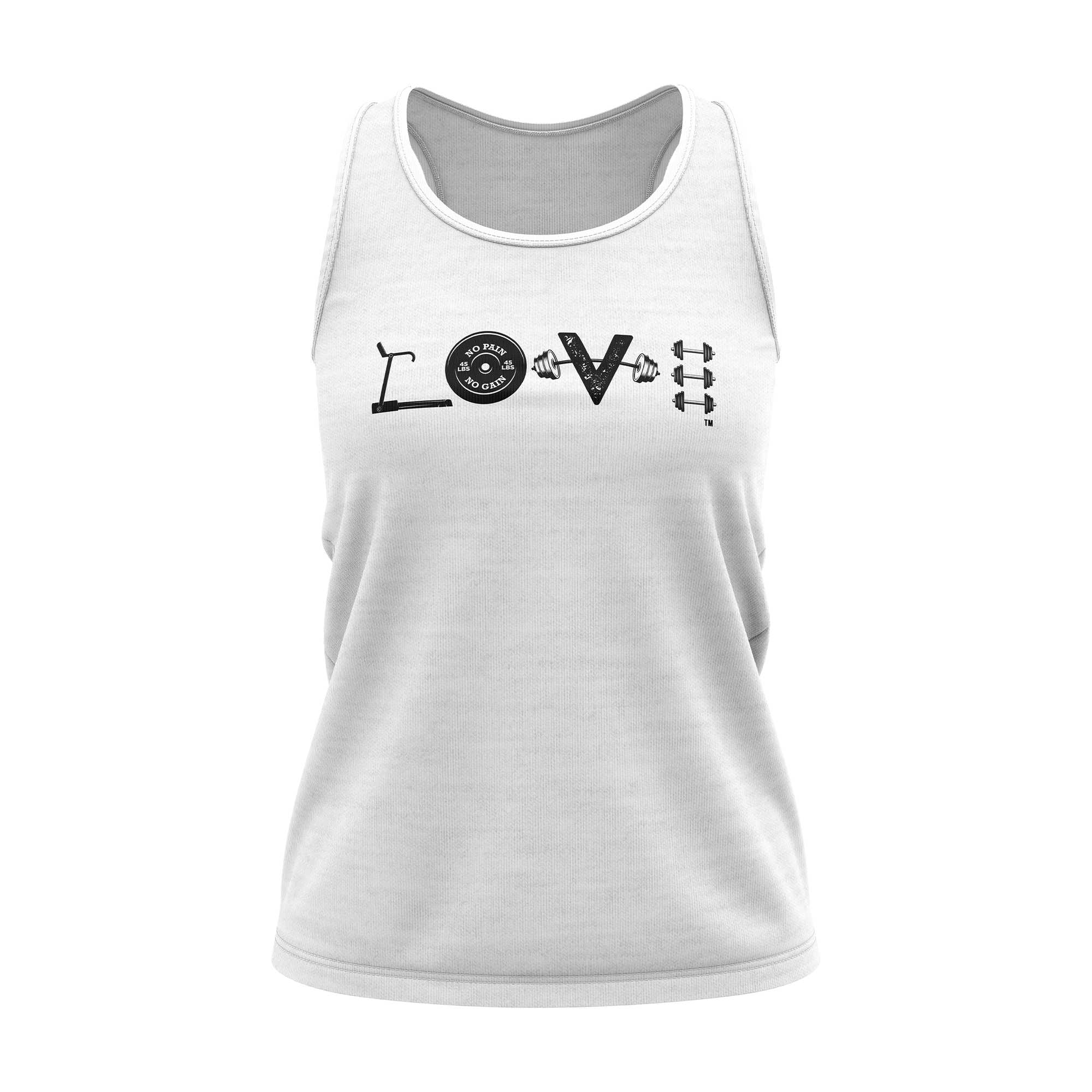 LOVE White Racerback Tank