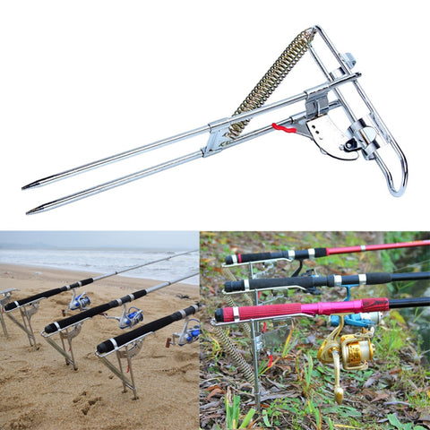 Automatic Double Spring Angle Fish Pole Tackle Bracket