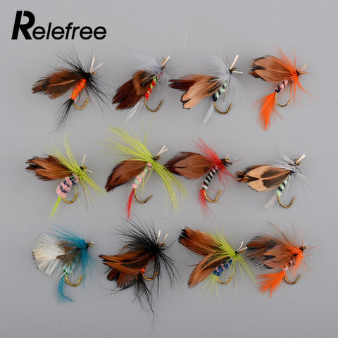 12pcs/Lot 2cm Fishing Flies Dry Fly Tackle Lures