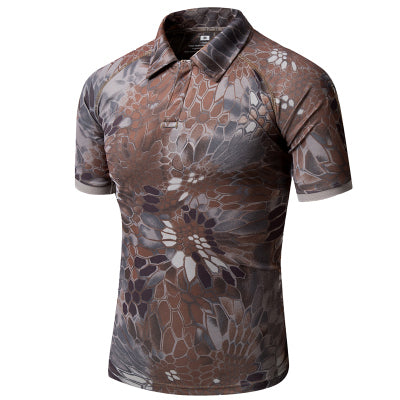 Summer Men Short Sleeve Military Tactical camouflage Tshirt.
