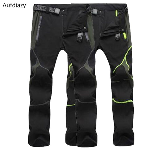 Aufdiazy Mens Stretch Waterproof Quick Dry Hiking Fishing Pants