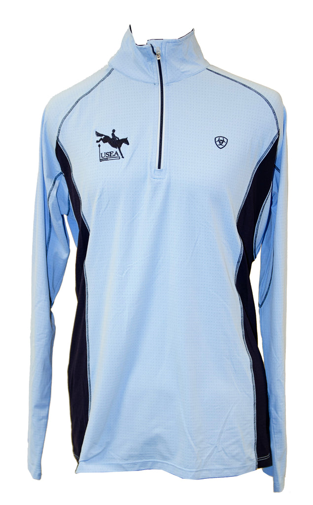 Ariat Tri-Factor 1/ Zip (Available in Light Blue and White)