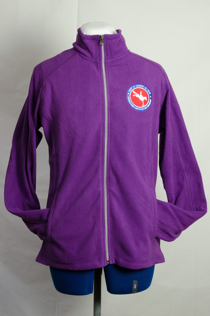 ICP Logowear Ladies Fleece Jacket (available in purple, navy and royal blue)