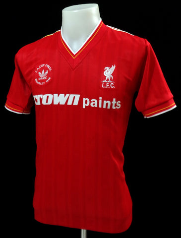 save off f87bd f9127 Liverpool 1986 FA Cup Final Shirt