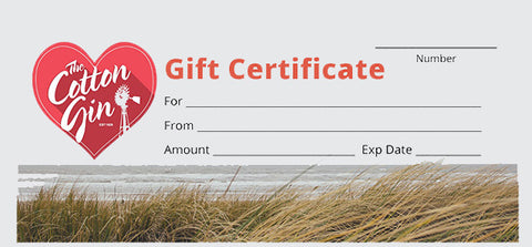 Cotton Gin $100 Gift Certificate