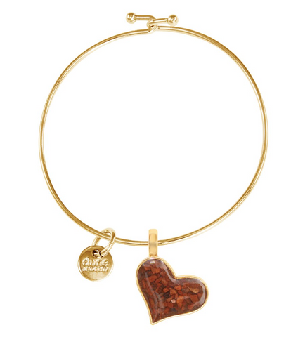Dune Jewelry Gold Heart Beach Bangle