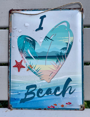 I Heart Beach sign