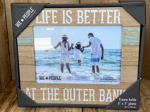 """Life is Better at The Outer Banks"" Picture Frame"