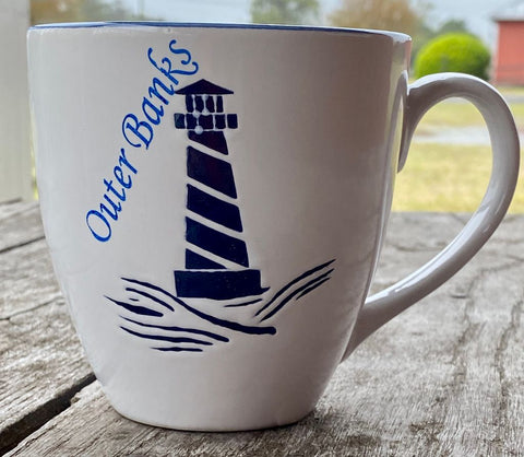 Outer Banks Coffee Mug with lighthouse